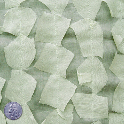 Silk Chiffon Novelty Petal Fabric 08 Mint Green
