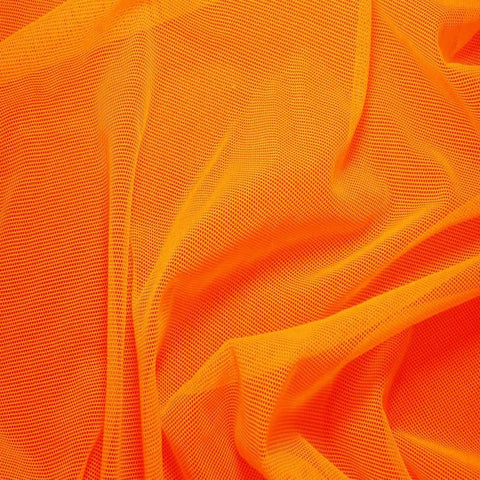Nylon/Spandex Sheer Stretch Mesh 08 NeonOrange - NY Fashion Center Fabrics
