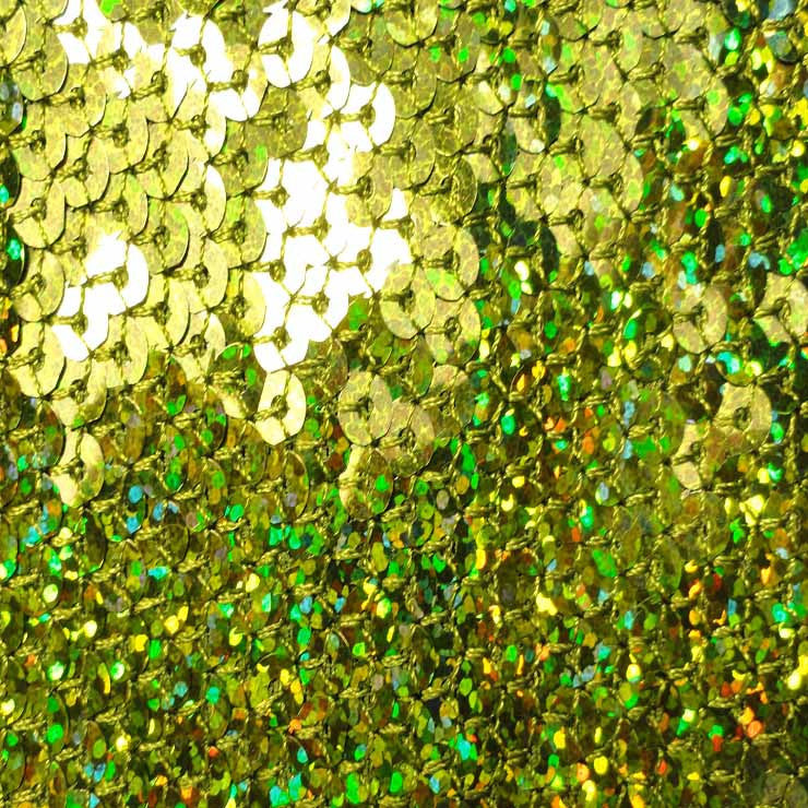Hologram Stretch Sequins Mesh 08 Olive - NY Fashion Center Fabrics
