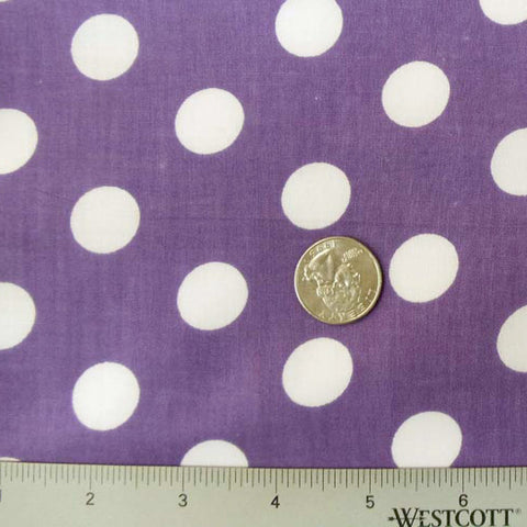 Cotton Large Dot Print Voile 08 Purple - NY Fashion Center Fabrics