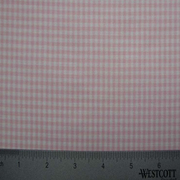 100% Cotton Fabric Checks Collection #4 08 STR9835PNK - NY Fashion Center Fabrics