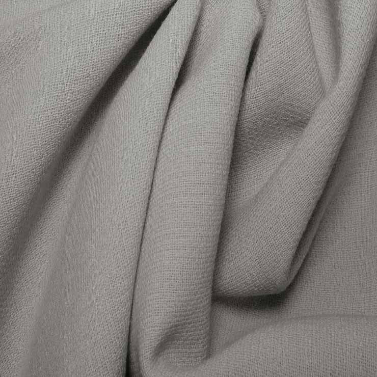 Wool Crepe Double Cloth 08 Silver