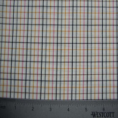 100% Cotton Fabric Checks Collection #6 08 Y D9764PNK - NY Fashion Center Fabrics