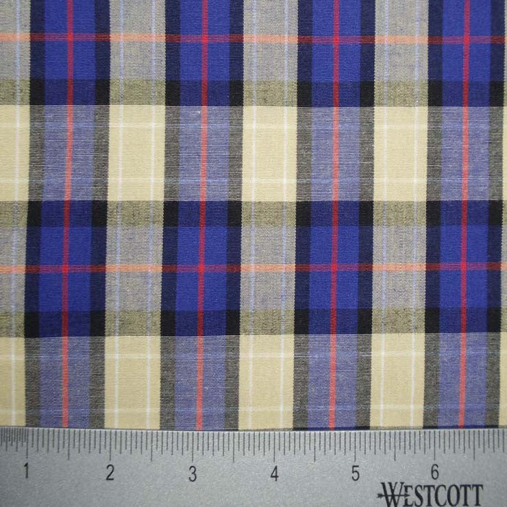100% Cotton Fabric Checks Collection #5 08 Y D9804BTR - NY Fashion Center Fabrics