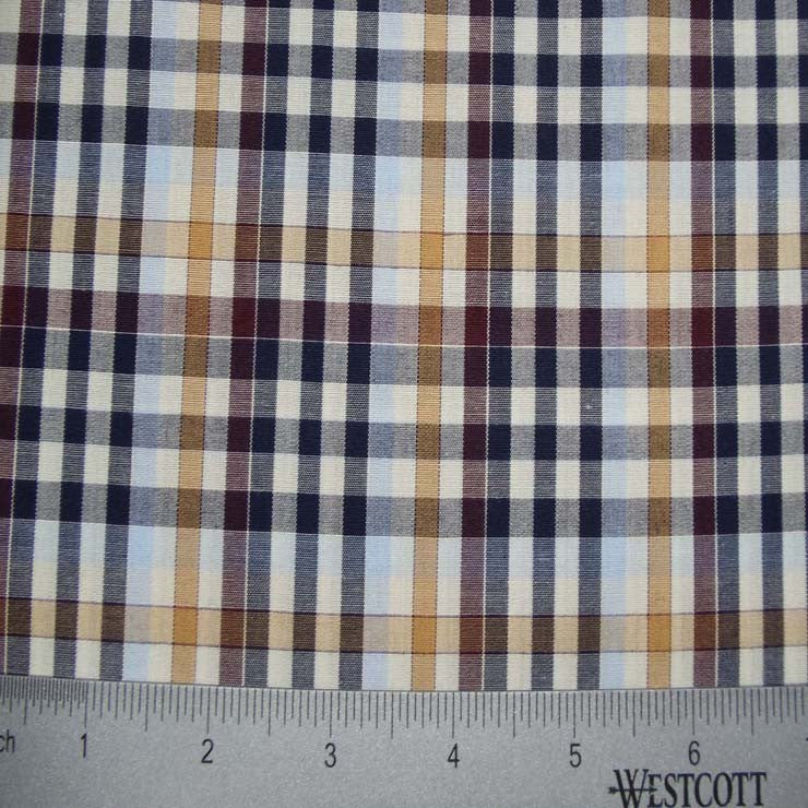 100% Cotton Fabric Checks Collection #1 08 Y D9825MUL - NY Fashion Center Fabrics