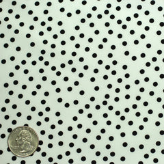 Silk Random Dots Print Crepe De Chine 08 white black