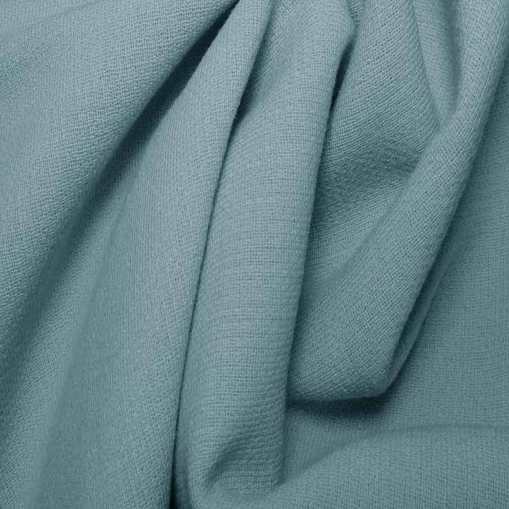 Wool Crepe Double Cloth 09 BabyBlue