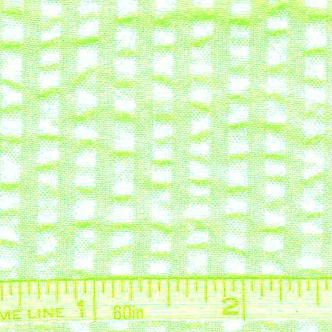 Cotton Blend Seersucker - 30 Yard Bolt 09 Bermuda Lime - NY Fashion Center Fabrics