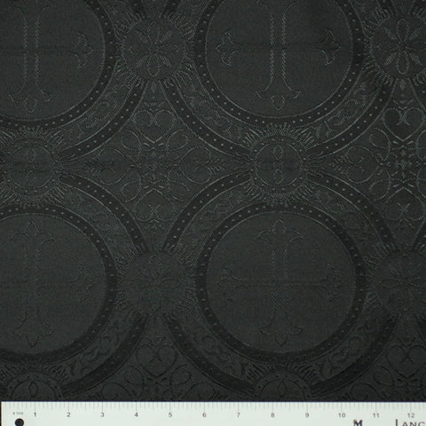 Polyester Tonal Church Brocade 09 Black
