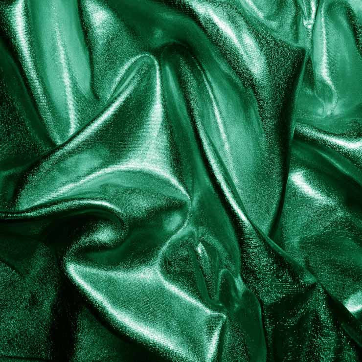 Metallic Spandex 09 Green - NY Fashion Center Fabrics
