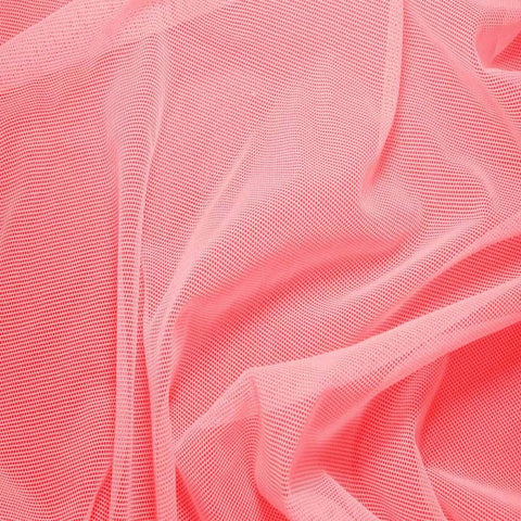 Nylon/Spandex Sheer Stretch Mesh 09 NeonPink - NY Fashion Center Fabrics