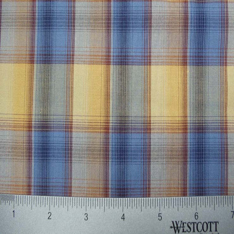 100% Cotton Fabric Checks Collection #1 09 Y D9760MUL - NY Fashion Center Fabrics