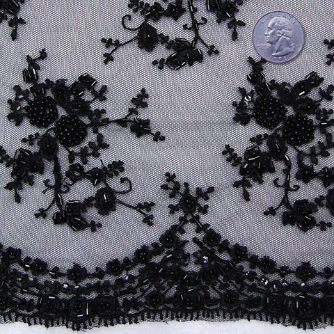 Madame de Pompadour Lace 1 Black - NY Fashion Center Fabrics