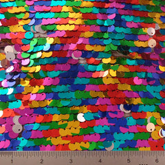 Multi Color Sequin Mesh 1 Rainbow 8mm - NY Fashion Center Fabrics