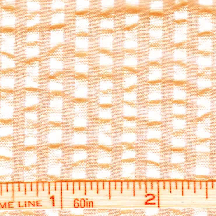 Cotton Blend Seersucker - 30 Yard Bolt 10 Bermuda Melon - NY Fashion Center Fabrics