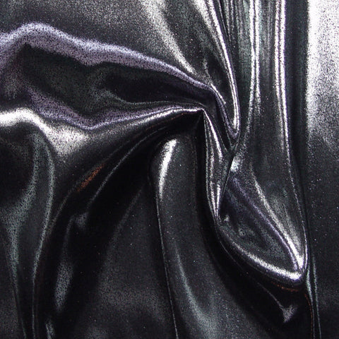 Polyester Metallic Stretch Woven 10 Black Silver