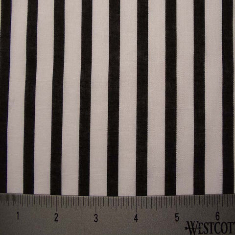 Cotton Striped Shirting #3 10 Black - NY Fashion Center Fabrics