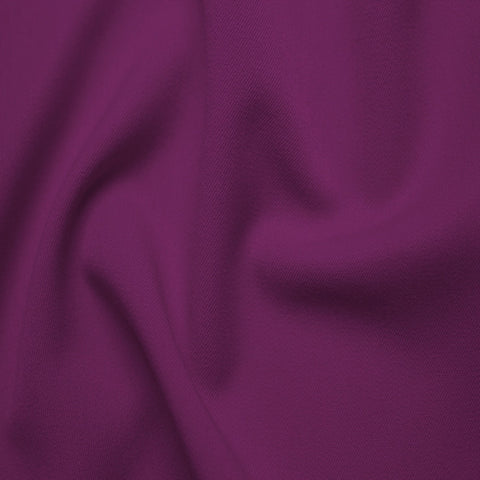Poly/Rayon Blend Stretch Gabardine - 20 Yard Bolt 10 Fuchsia