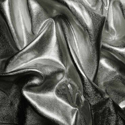 Metallic Spandex 10 Gunmetal - NY Fashion Center Fabrics