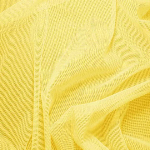Nylon/Spandex Sheer Stretch Mesh 10 Lemon - NY Fashion Center Fabrics