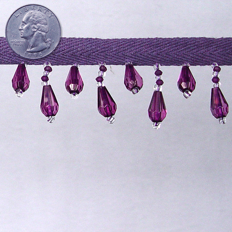Bead Trim CBT-10 10 Purple - NY Fashion Center Fabrics