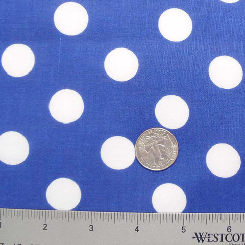 Cotton Large Dot Print Voile 10 Royal - NY Fashion Center Fabrics