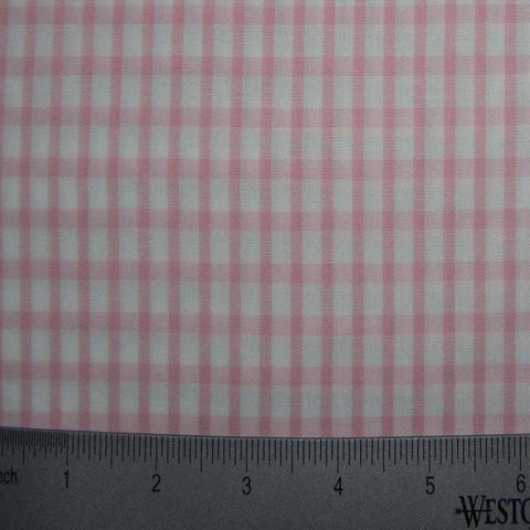 100% Cotton Fabric Checks Collection #6 10 Y D8357PNK - NY Fashion Center Fabrics