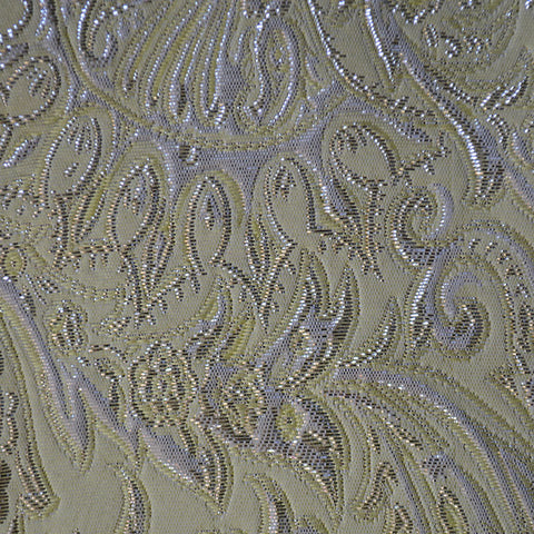 Baroque Metallic Brocade Fabric 10 Yellow - NY Fashion Center Fabrics