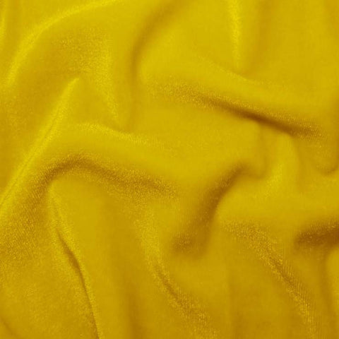 Polyester Stretch Velvet - 15 Yard Minimum 10 Yellow