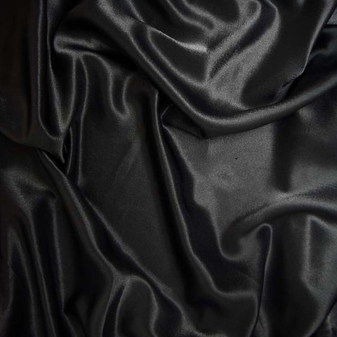 Polyester Crepe Back Satin 100 Black