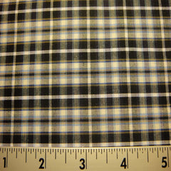 100% Cotton Fabric Checks #8 103 KO 3470 Y D9812BWB - NY Fashion Center Fabrics