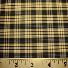 100% Cotton Fabric Checks #8 104 KO 3471 Y D9813BTB - NY Fashion Center Fabrics