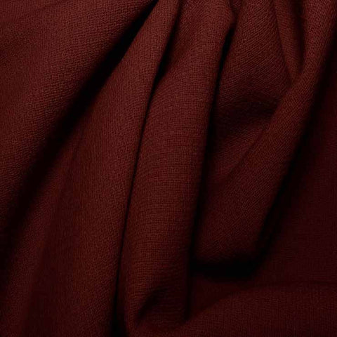 Wool Crepe Double Cloth 11 Burgundy