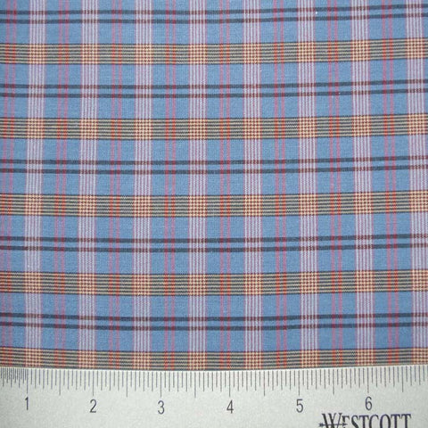 100% Cotton Fabric Checks Collection #2 11 KO 3448 Y D3003BLU - NY Fashion Center Fabrics