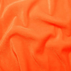 Polyester Stretch Velvet - 15 Yard Minimum 11 Orange