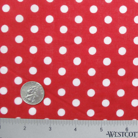 Cotton Small Dot Print Voile 11 Red - NY Fashion Center Fabrics