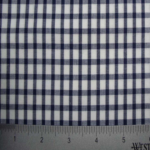 100% Cotton Fabric Checks Collection #6 11 Y D8357NVY - NY Fashion Center Fabrics