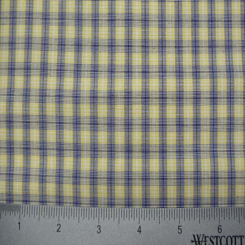 100% Cotton Fabric Checks Collection #3 11 Y D9501M B - NY Fashion Center Fabrics