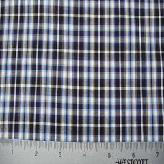 100% Cotton Fabric Checks Collection #1 11 Y D9812BWB - NY Fashion Center Fabrics