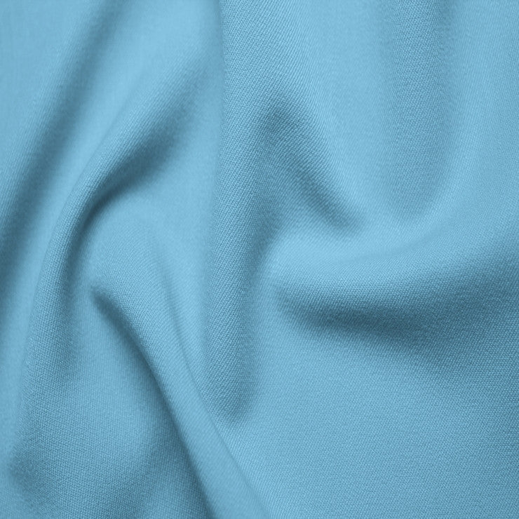 Poly/Rayon Blend Stretch Gabardine - 20 Yard Bolt 12 Baby Blue
