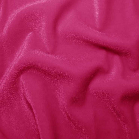 Polyester Stretch Velvet - 15 Yard Minimum 12 HotPink