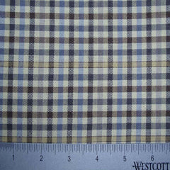 100% Cotton Fabric Checks Collection #5 12 KO 3476 FLN5002T B - NY Fashion Center Fabrics