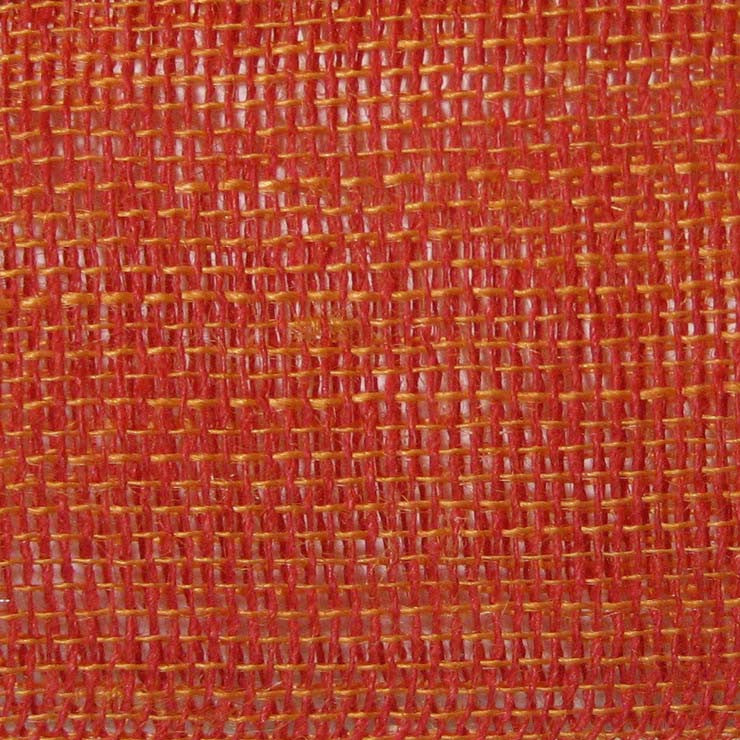 Open Weave Linen 12 Red Orange