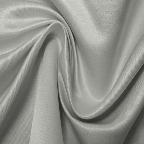 Silk Blend Duchess Satin Silver