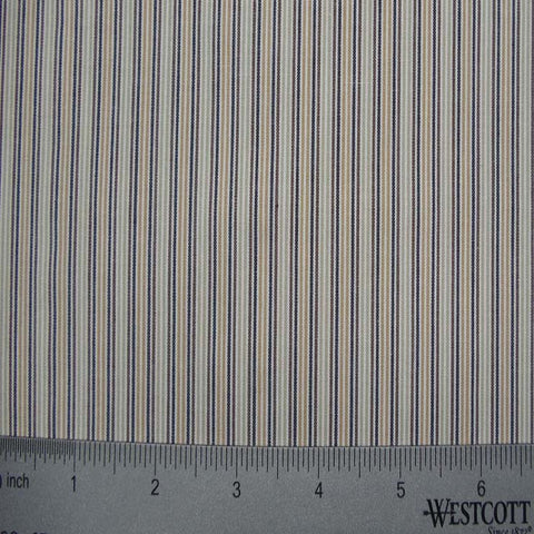 100% Cotton Fabric Stripes Collection #7 13 Y D2652BLU - NY Fashion Center Fabrics