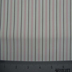 100% Cotton Fabric Stripes Collection #6 121 Y D4520PNK - NY Fashion Center Fabrics
