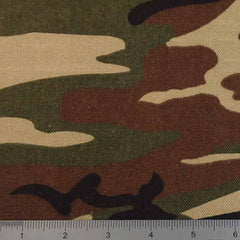 Cotton Camouflage Canvas 20 Yard Bolt 121500 Woodlands Green - NY Fashion Center Fabrics