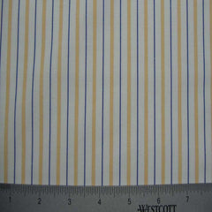 100% Cotton Fabric Stripes Collection #6 122 Y D4520GOL - NY Fashion Center Fabrics