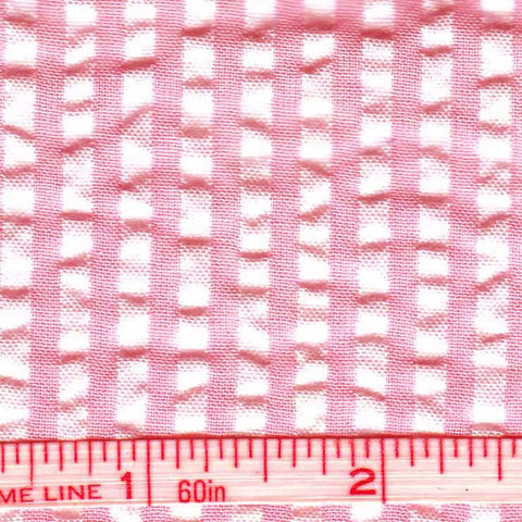 Cotton Blend Seersucker - 30 Yard Bolt 13 Bermuda Red - NY Fashion Center Fabrics
