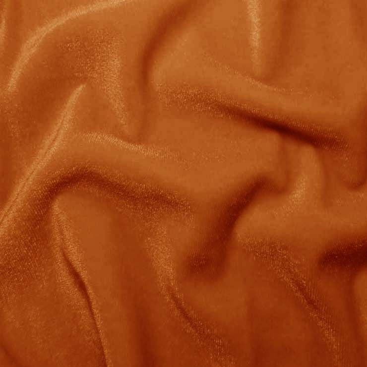 Polyester Stretch Velvet 13 Copper